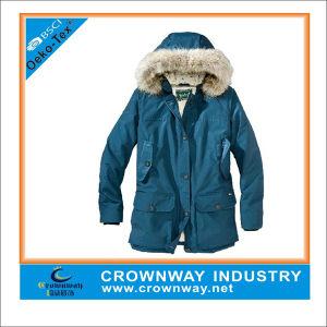 Fur Hood Warm Simple Sport Parka Jacket for Men pictures & photos
