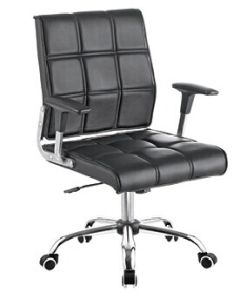 Middle Back Upholstered PU Office Chair