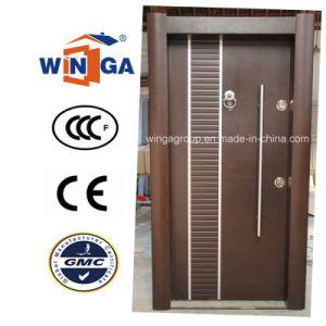 Classic Turkey Style Security Steel Wood MDF Veneer Door (W-T34) pictures & photos