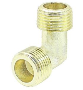 Gold Tone Air Compressor Elbow Fittings Brass 16.5mm Dia M X M Thread pictures & photos
