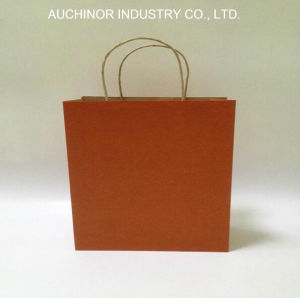 Custom Printed Recycled Card Paper Carrier Bag for Shopping pictures & photos