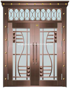 with Window Wrought Iron Entrance Security Glass Copper Door (W-GB-01) & China with Window Wrought Iron Entrance Security Glass Copper Door ... pezcame.com