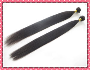 "Unprocessed Peruvian Virgin Hair Extension Silky Straight Weaving 26"" 100g Black Color pictures & photos"