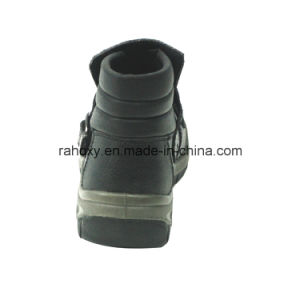 Professional MID-Cut Full Leather Safety Shoe for Welders (HQ05049) pictures & photos