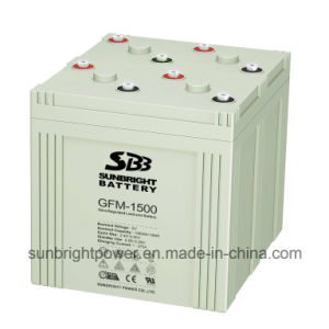 Power Solar Panel Rechargeable Deep Cycle 2V1500ah Lead Acid Battery pictures & photos