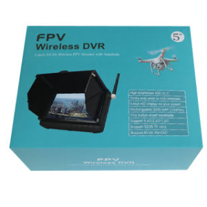 1.2g 5 Inch Wireless Aerial DVR with Sunshade Fpv Monitor pictures & photos
