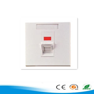 Factory Price High Quality Network Single Port RJ45 Faceplate 86 Type Wall Plate pictures & photos
