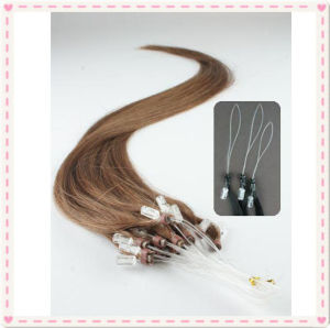 Brazilian Remy Loop Ring Human Hair Extensions pictures & photos