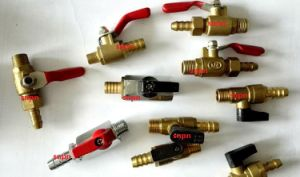 Brass Mini Ball Valve with Barb pictures & photos