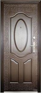 Factory Economic Flush Design Steel Door (EF-S017) pictures & photos