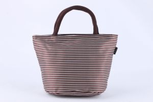 Coffee Stripe Lunch Bag Handbag pictures & photos