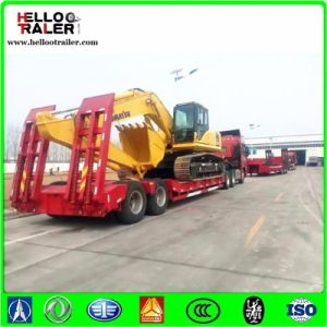 2 Axle Heavy Duty Lowbed Truck Semi Trailer pictures & photos