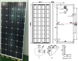 18V 36V 145W 150W 155W 160W Monocrystalline Solar Panel PV Module From ISO Factory pictures & photos