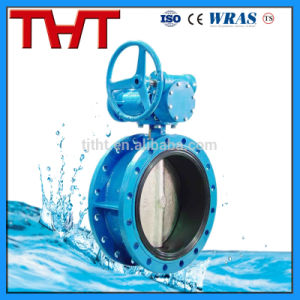 Gear Operated Wafer Double Flange Butterfly Valve pictures & photos