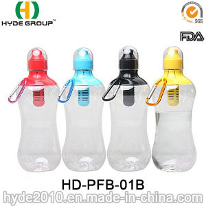 500ml Wholesale Plastic Bobble Carbon Filter Bottle (HD-PFB-01B) pictures & photos