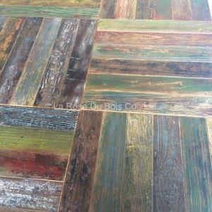 Reclaimed Elm Versailles Wood Flooring/Old Wood Floors (Pattern) (08)