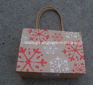 Recycled Brown Kraft Paper Gift Bag Glitter Christmas Paper Bag pictures & photos