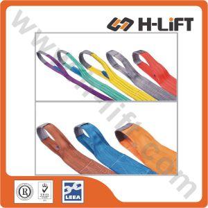 100% Polyester Flat Webbing Sling, Lifting Sling Belt (WSDP) pictures & photos