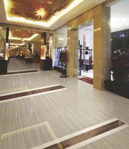 Grey Wooden Line Stone Polished Porcelain Tile pictures & photos