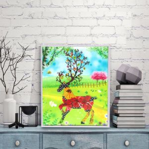 Factory Direct Wholesale New Children DIY Crystal Modern Flower Wall Art Canvas Home Decoration K-125 pictures & photos
