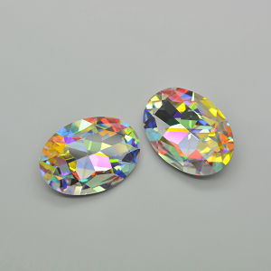 Crystal Glass Jewelry Parts Ab Stone Bead