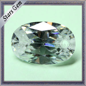 Oval Clear White Diamond Brilliant Cut Cubic Zirconia pictures & photos