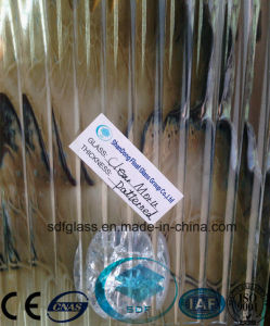 Clear Moru Patterned Glass with CE, ISO (3-8mm) pictures & photos