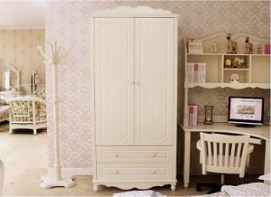 White Color European Style Children Wardrobe Made by Solid Wood (M-X1162) pictures & photos