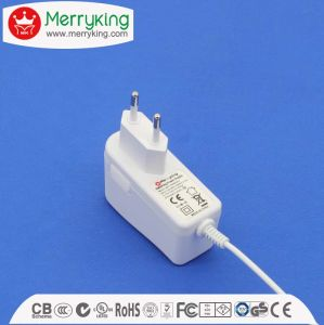 24V650mA DC Power Adapter 15.6W AC DC Adapter with EU Plug pictures & photos