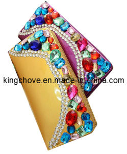 Fashion Yellow PU with Diamond Wallet / Fashion Wallets (KCW07) pictures & photos