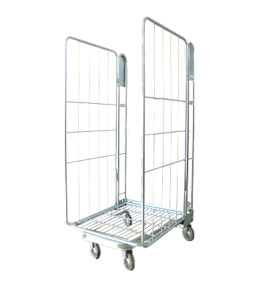 Wire Mesh Warehouse Trolley / Roll Container with Wheel pictures & photos