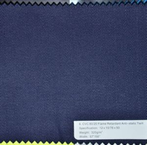 320G/M2 80%Cotton 20%Polyester Flame Retardant Twill Fabric pictures & photos