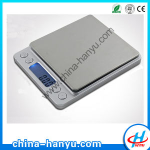 Digital Pocket Scale with Stainless Steel Pan (HY-2000)