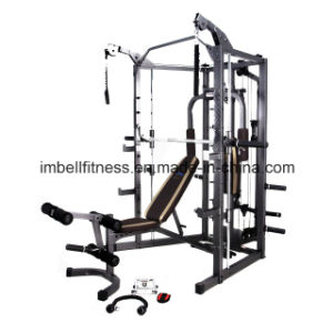 Multi Gym Equipment /Highly Durable Smith Trainer with Smith-Style Press Bar Sc4008 Fitness Equipment
