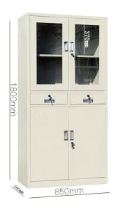 4-Door 2-Drawer Office Furniture Steel Swing Door Filing Cabinet pictures & photos