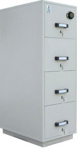 Fire Resistant Filling Cabinet, Metal Filing Cabinet, 4 Drawer Safe Storage Cabinet pictures & photos