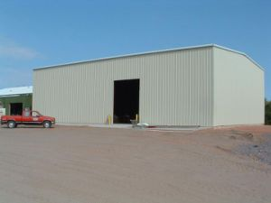 Large Span Prefabricated Steel Structure Warehouse for Cube Suger pictures & photos