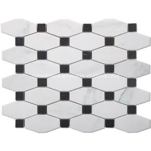 Hot Selling White Marble Mosaic Tile pictures & photos