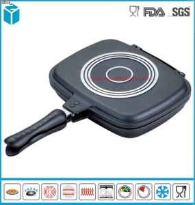 Dual Sided Pressure Grilling Griddle Frying Pan