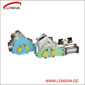 316L Stainless Steel Sanitary Pneumatic Diverter Valve pictures & photos