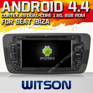 Witson Android 4.4 Car DVD for Seat Ibiza 2013 with A9 Chipset 1080P 8g ROM WiFi 3G Internet DVR Support pictures & photos