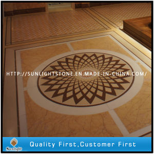 Marble Water Jet Medallion & Water Jet Pattern for Hotel Flooring pictures & photos