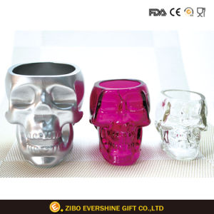 Colors Electroplated Skull Glass Mug Bone-Chillingly Cool for Bar pictures & photos
