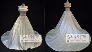 2015 Tulle Sweetheart Plus Size Wedding Dress with Lace Decoration (JL1020)