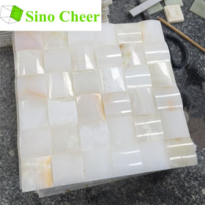 Chinese White Onyx Marble Mosaic Tile Price pictures & photos