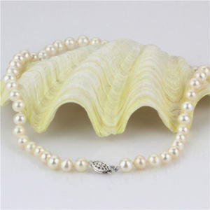Snh 7-8mm Round Shape AA- Cream Bridal Pearl Necklace pictures & photos