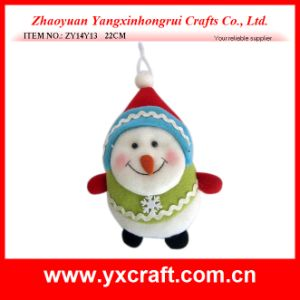Christmas Decoration (ZY14Y13 22CM) Christmas Snowman Toy Product Stand pictures & photos