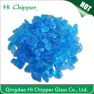 Crushed Ocean Blue Glass Chips pictures & photos