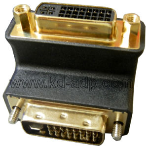 Adapter Right Angle DVI Male to Female