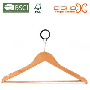 Wood Hanger with Anti-Thief Hook for Hotels pictures & photos